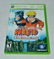 Shonen Jump Naruto The Broken Bond Microsoft Xbox 360 Video Game Complete CIB
