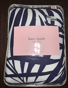 Kate Spade navy and white full/ queen comforter set