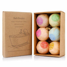 6Pcs Aromatherapy Bubble Bath Bombs with Coconut Oil GIFT Bath Fizzies K%