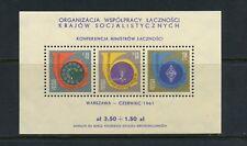 P675  Poland  1961  telecoms conference  sheet  MNH