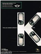 PUBLICITE ADVERTISING 095  2007  La MINI COOPER  D 110CV