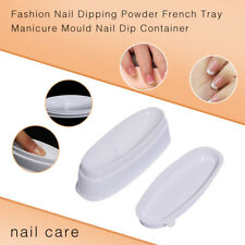 HD_ CO_ Fashion Nail Dipping Powder French Tray Manicure Mould Nail Dip Containe