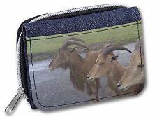 Three Cheeky Goats Girls/Ladies Denim Purse Wallet Christmas Gift Idea, GOAT-2JW