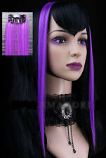 Extension cheveux à clipper clip paire gothique cyber punk lolita fashion Violet