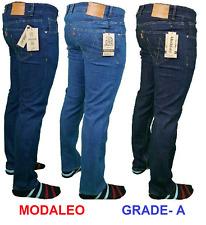 Mens Straight Leg Basic Heavy Work Jeans Denim Pants W34 W36 W38 L31 MODALEO UK