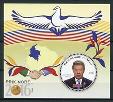 Mali 2016 MNH Nobelpreis Frieden Juan Manual Santos 1v S/S Tauben Vögel Briefmarken