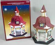 Lemax Gazebo Santa's Workbench Porcelain Original Box 2001 No Damage