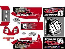 losi mini sprint, slider 1/18  wrap kit decal sticker SNAP ON CUSTOM WRAP KIT