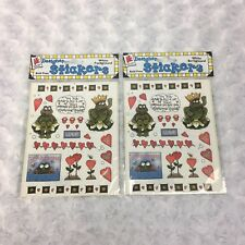 Provo Craft Frog Toad Love Hearts Valentine Kiss Prince Lips Fairy Tale Stickers