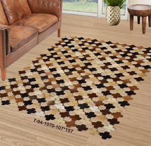 Modern floor rugs patchwork cowhide rug Bohemian new rugs online AU 7-94