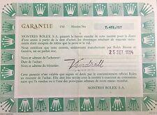 Certificato di garanzia Rolex Daytona Cosmograph in acciaio inox 6263 80s ORIGINALE