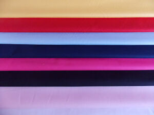 100% Cotton Poplin Fabric Solid Plain