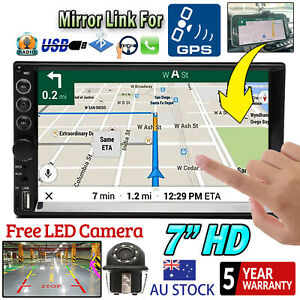 2 DIN Car Stereo Radio Head Unit Touch Bluetooth Phone linkf for GPS + Camera AU