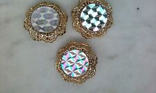 Vintage Clip on Earrings and Matching Scarf Clip