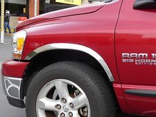 DODGE RAM 1500 2002 - 2008 TFP Polished Stainess Fender Trim Molding - Short Bed