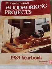 POPULAR SCIENCE WOODWORKING PROJECTS 1989 YEARBOOK.  PAPERBACK.  VINTAGE.