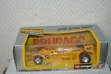 Car Burago Grand Price Lotus Honda Turbo Die-Cast New Box 1/24 F1 Car/Auto
