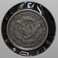 1945 Guatemala 5 Centavos .720 Silver Coin Y-99 - 0448
