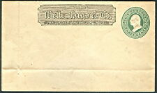 US #U165 (Thorp 555b) 3¢ green on cream, WELLS FARGO