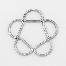 "100Pcs Silver Tone 1/2"" Dee Rings For Webbing Strapping Metal D Rings Jewelry"