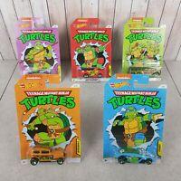 New Release - Teenage Mutant Ninja Turtle TMNT Hot Wheels - Complete Set - 2020