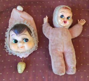 Vintage Musical Dolls x2, 1950-60s