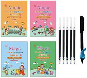 4PCS Calligraphy Copybook Magic Practice Copy Book Reusable Handwriting NEW