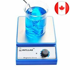 INTLLAB Magnetic Stirrer Stainless Steel Magnetic Mixer with stir bar No Heating