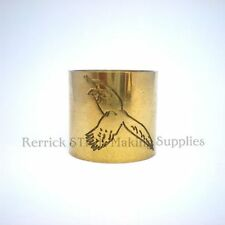 PLAIN BRASS COLLAR FOR WALKING STICK PHEASANT ENGRAVED 23mm