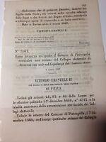 Regio Decreto 3/03/1867 Cost. sez. coll. elet. di Pietragalla  ad Acerenza - 656