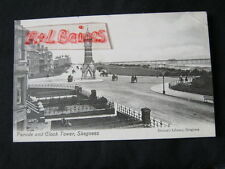 Parade and Clock Tower, Skegness, Lincolnshire, 1908 Postcard