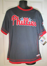 Philadelphia Phillies Mens Jersey Stitches CREW Neck Authentic MLB GRAY RED XL