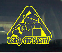 Baby on Board Car window graphic VINYL DECAL STICKER pregnant shower boy idea
