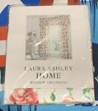"Laura Ashley Home Valance Window Treatment Pink Poppies 86"" x 15"""