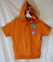 Boys George Orange Cool Beach Surf Short Sleeve Hooded Hoodie Age 5-6 Years