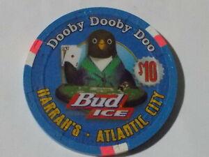 HARRAH'S HOTEL CASINO $10 casino poker gaming chip (LTD) ~ Atlantic City, NJ