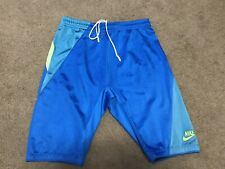 Vintage 1980's NIKE Running Sprinter Nylon Tights Shorts Jammer Men's Sz XL