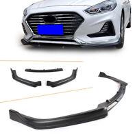 Front Bumper Spoiler Lip Splitter Body Kit For Hyundai Sonata Hybrid 2018 Black