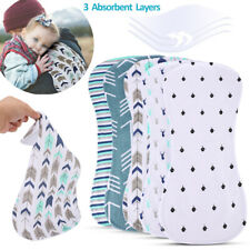 5Pcs 100% Organic Cotton Burp Cloths Extra Absorbent for Baby Gots Certified