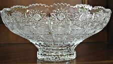 "Bohemia Crystal Bowl, 10"" Wide, hand cut, Queen Lace, Made in Czech Republic"