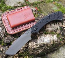 TOPS Knives TAC-RAZE Taschenmesser Razorklinge 1095 Stahl G10 Griff Lederscheide