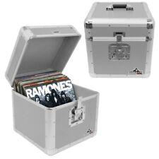 "Gorilla LP100 12"" Vinyl Record Box DJ Storage Carry Case Silver Holds 100 (Pair)"