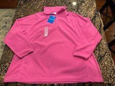 Columbia Arctic Air Plus New Womens Size 3X 1/2 Zip Fleece SweatShirt Top Pink