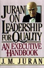 Juran on Leadership for Quality, Juran, J. M., 0029166829, Book, Good