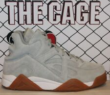 Mens Fila THE CAGE Grey Suede Hris White Gum Retro Classic Basketball Shoes