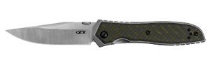 Zero Tolerance 0640 Emerson Frame Lock Knife Black & Green Carbon Fiber 20CV