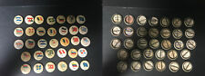 P6 American Tobacco Pins, National Flag, 1898, Lot of 33 Different
