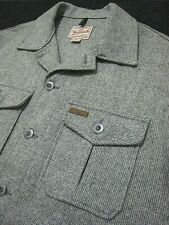 NEW Men's WOOLRICH Outdoorwear 4 Pocket Wool Tweed Cruiser Shirt Jacket. USA. M