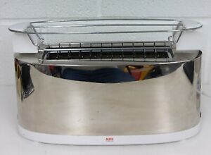 Alessi - SG68 Toaster with bun warmer, Silver Chrome  - GOOD CONDITION