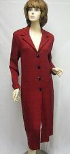 St John Knit NWOT Red Black Multi COAT SIZE  14